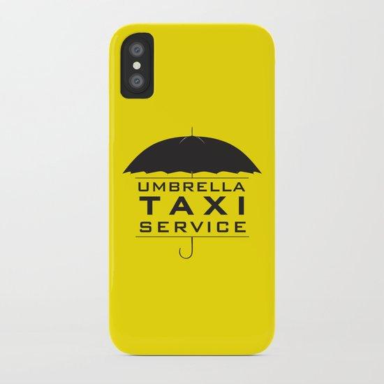 umbrella taxi service iPhone Case