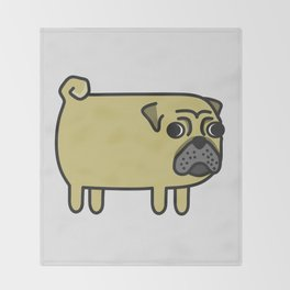 1# I like big pugs Throw Blanket