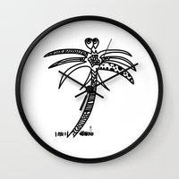 palm Wall Clocks featuring -PALM by It's Bananas Studio