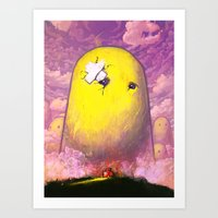 mario Art Prints featuring Mario by Ronan Lynam