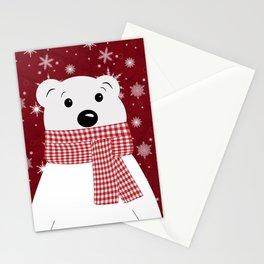 Christmas polar bear. Stationery Cards