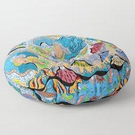 Supersonic Angel Mermaids Floor Pillow