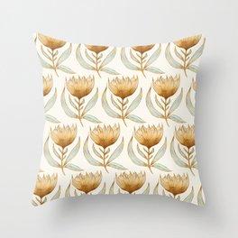 Bohemian Sunflower Pattern Throw Pillow