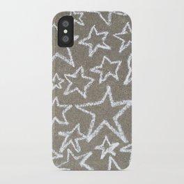 sidewalk chalk stars iPhone Case