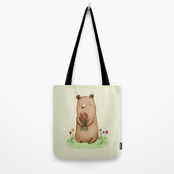 Bear Bouquet Tote Bag