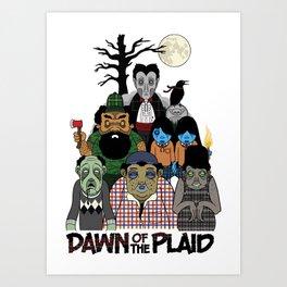 Dawn of the Plaid Art Print