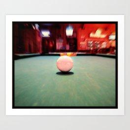 Cue Ball Art Print