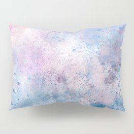 Spring Riff, Abstract, Blue, Pink Pillow Sham