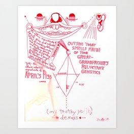 April's Piss Art Print