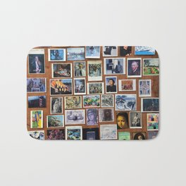 Wooden Postcard Wall Bath Mat