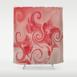 """""""Red Curl"""" Shower Curtain"""