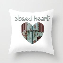 Closed art Illustration Throw Pillow