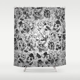 The gang's all here - Five Nights At Freddy's Shower Curtain