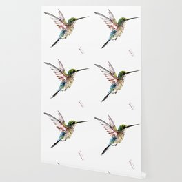 Hummingbird, bird art minimalist bird design hummingbird lover Wallpaper
