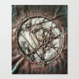 Woven Threads . Dream Catcher Canvas Print