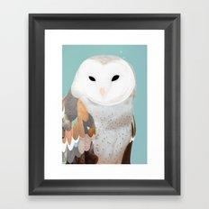WHITE OWL 3 Framed Art Print