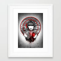 lily Framed Art Prints featuring Lily by Marine Loup