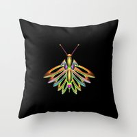 firefly Throw Pillows featuring Firefly by Phil Perkins