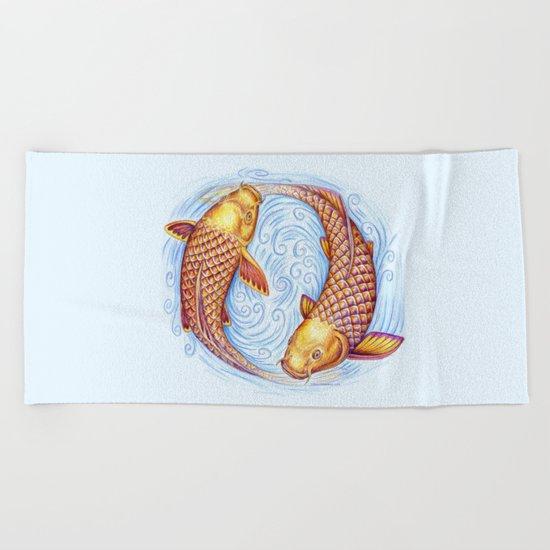 Pisces Beach Towel