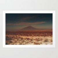desert Art Prints featuring desert by Lunakhods