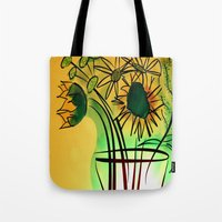 leah flores Tote Bags featuring Flores by transFIGure