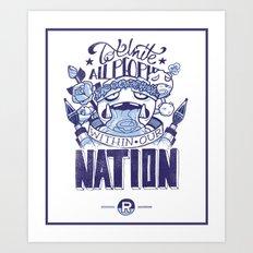 Rocket's Motto: James Art Print