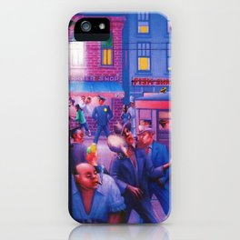 African American Masterpiece 'Casey and Mae in the Street' by Archibald Motley iPhone Case