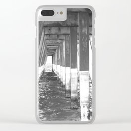 Black and White Pier (Wrightsville Beach, NC) Clear iPhone Case