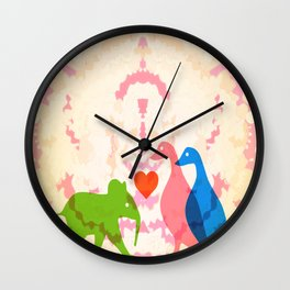 Family (Pink and Blue) Wall Clock