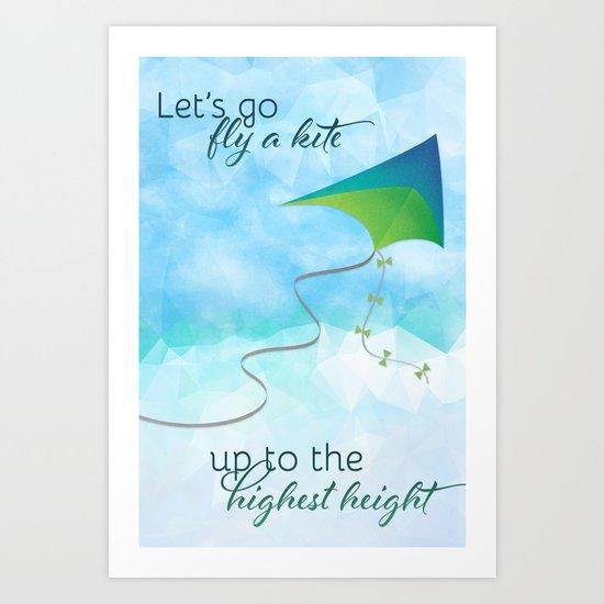Let's Go Fly a Kite! Art Print
