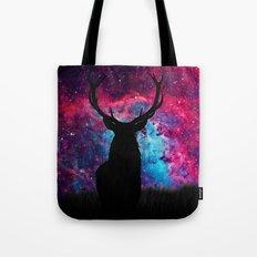 Deer Galaxy Tote Bag