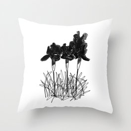 Dark Iris Throw Pillow