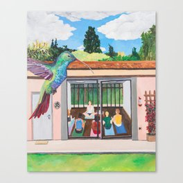 THE THIRSTY HUMMINGBIRD Canvas Print