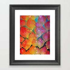 Colorful foliage Framed Art Print