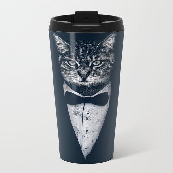 Mr Cat Metal Travel Mug