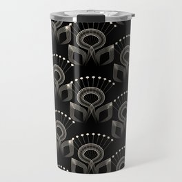 Art Deco 34 . The bird's tail . Travel Mug