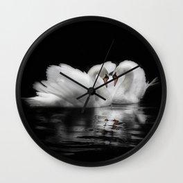swan lovers Wall Clock