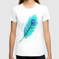 indigo T-shirts featuring Indigo by N. Rogers Fine Art