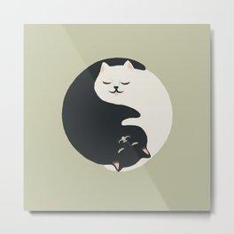 Hidden cat 26 yin yang hug Metal Print