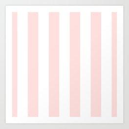 Pink Bubblegum Pop and White Wide Cabana Stripes Art Print