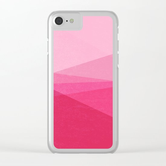 Stripe XI Cotton Candy Clear iPhone Case