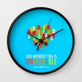 Life Without You is Unbearable Wall Clock