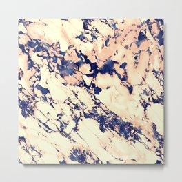 Navy Marble 510 Metal Print