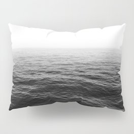 ocean horizon black and white landscape photography Pillow Sham