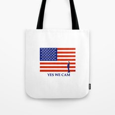 Yes we cam Tote Bag