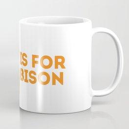 B is for Bison - Animal Alphabet Series Coffee Mug
