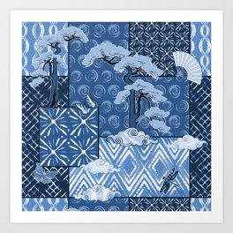 Shibori Quilt Art Print