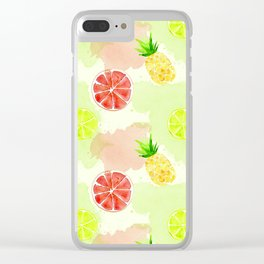Fruity Summer punch Clear iPhone Case