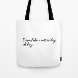 I read the news Tote Bag