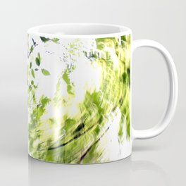 Abstract forest; intentionally blurred by twisting the camera Coffee Mug